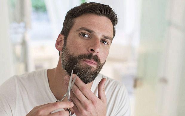 white hair of Beard
