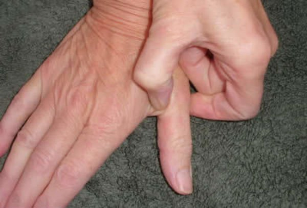 finger pressing